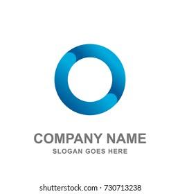 Blue Round Circle Logo Vector Icon