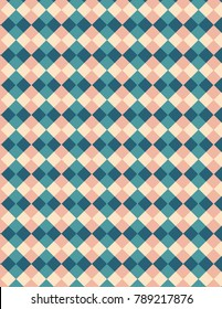 Blue, salmon, and tan pattern plaid image, great for design projects and background