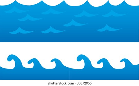blue sea cartoon isolated over white background. vector