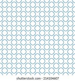 Blue seamless arabic pattern vector