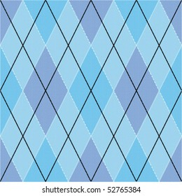 Blue seamless argyle pattern