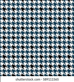 Blue Seamless Houndstooth Pattern Design