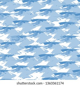 Blue seamless pattern, abstract shapes backraund for fabric, prints, cloth, postcards.
