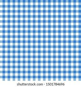 Blue seamless table cloth texture. Vector illustration.
