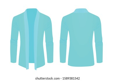 Blue shawl sweater. vector illustration