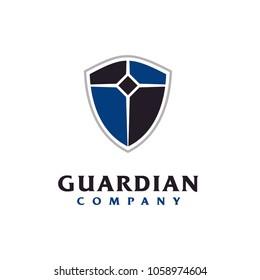 Blue Shield Protection Logo design inspiration