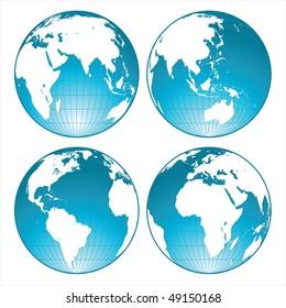 blue shiny globes