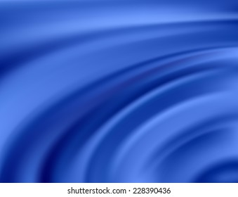 Blue Silk Fabric for Drapery Abstract Background, Vector Illustration