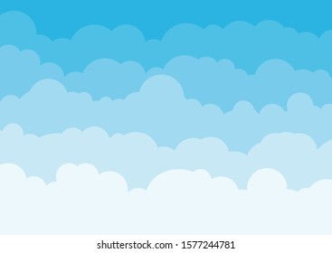 Blue sky background with clouds. Vector illustration. EPS 10