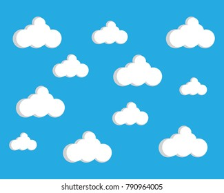 Blue sky with cloud vector icon