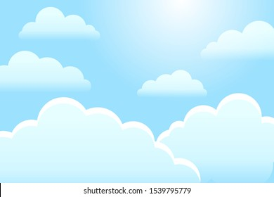 Blue sky with clouds pattern.