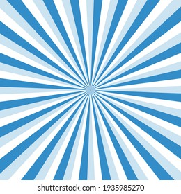 Blue sky ray burst style background vector design