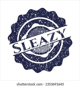 Blue Sleazy distress rubber stamp
