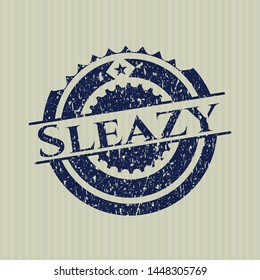 Blue Sleazy rubber grunge texture seal