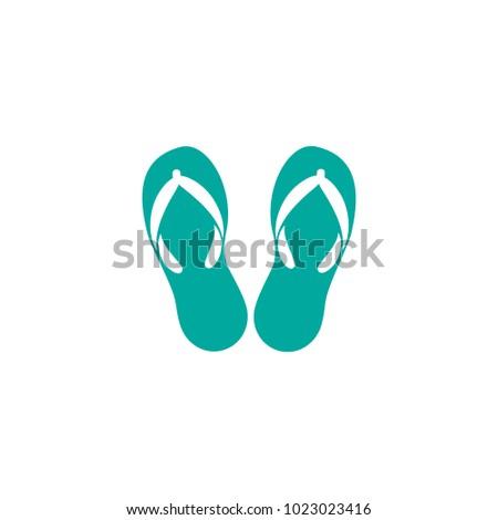 f64dbac0ae8ca Blue Slippers Pair Flip Flops Summer Stock Vector (Royalty Free ...