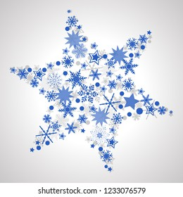 Blue snow star - for stock