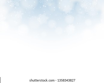 Blue snowflake background. Vector Eps 10