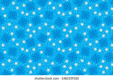 The blue snowflakes wrapper for christmas holiday