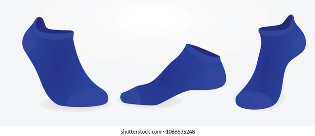 Blue socks. vector illustration