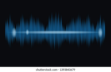 Blue Sound Wave Music Equalizer. Abstract technology background