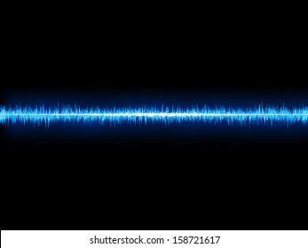 Blue sound wave on white background. + EPS10 vector file