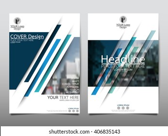 Blue speed annual report brochure flyer design template vector, Leaflet cover presentation abstract flat background, layout in A4 size