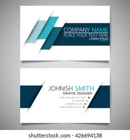 Blue speed modern creative and clean business card, simple template vector design
