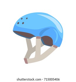 Blue sport helmet cartoon vector Illustration