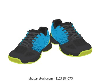 Blue sport shoes for running. Tennis shoes. Kids shoes.