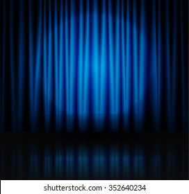 1000+ Blue Theatre Curtains Stock Images, Photos \ Vectors