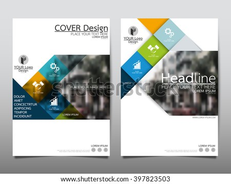Blue square annual report brochure flyer design template vector, Leaflet cover presentation abstract flat background, layout in A4 size