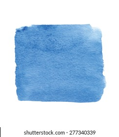 blue square - great watercolor background for your design
