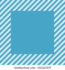 blue square. stripes at an angle of 45 degrees. abstract lines. vector background