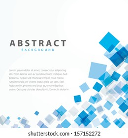 Blue squares business abstract background vector eps10