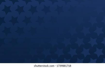 Blue stars over dark blue gradient background, repeatable