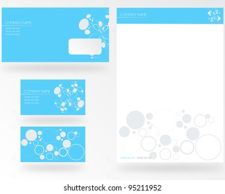Blue Stationery