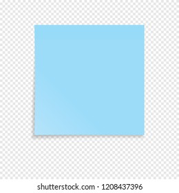 Blue sticky note isolated on a transparent background