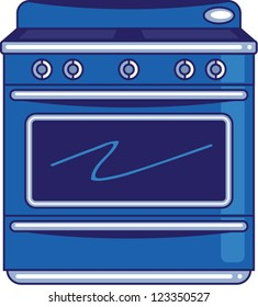 Blue Stove | kitchen appliance of a blue stove.