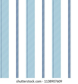 Blue striped classic texture seamless pattern. Vector illustration.