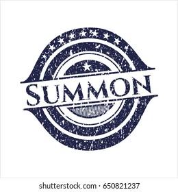 Blue Summon grunge seal