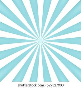 Blue sun rays background - Vector