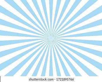 Blue Sunburst Pattern Abstract Background.
