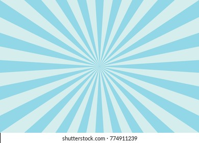 Blue Sunburst Pattern Abstract Background. Ray. Radial. Vector Illustration