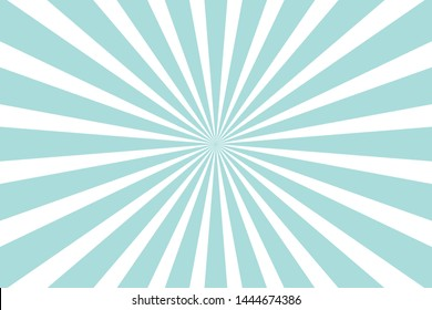 Blue Sunburst Pattern Background. Rays. Radial. Abstract. Retro. Vintage. Vector Illustration