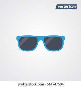 blue sunglasses icon vector illustration