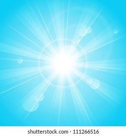 Blue sunny background