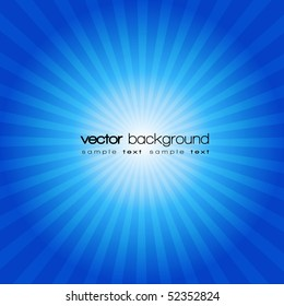 Blue sunset vector background with text