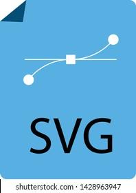 blue SVG File Document icon on white background. flat style. blue SVG File icon for your web site design, logo, app, UI. download SVG symbol. SVG file sign.