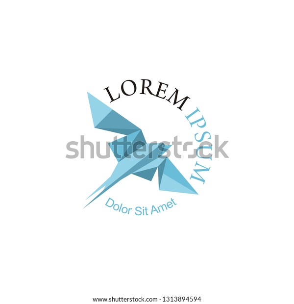 blue swallow logo company stock vector royalty free 1313894594 shutterstock