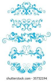 Blue swirl design
